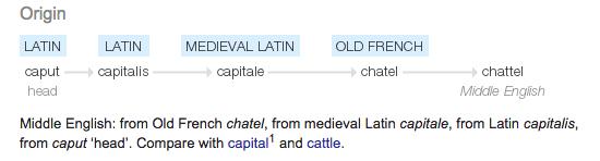 Chattel Origin