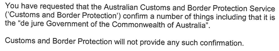 Denial of Rights - Australian Customs and Border Protection Service