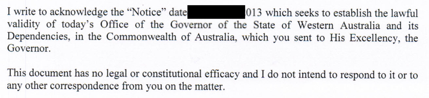 Denial of Rights - Governor WA excerpt
