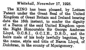 London Gazette - 1925 Queensland Letters Patent