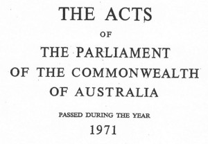 Parliament of the Commonwealth 1971